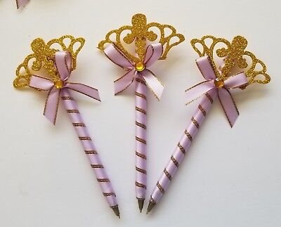 30pcs Baby Shower Princess pens Favors for Girl (lavender)