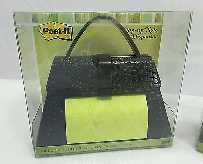 Post-it Pop-up Note Dispenser Black Purse Handbag For 3 X 3-inch Notes