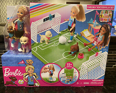 Barbie Dreamhouse Adventures 6-Inch Chelsea Doll with Soccer Playset - NEW