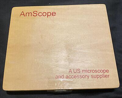 Amscope 100 Pc Prepared Microscope Glass Slides A Us Microscope Co.