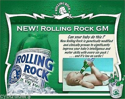 Rolling Rock Beer Funny  Advertising  Refrigerator, Tool Box  Magnet