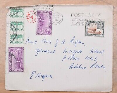 Nairobi Kenya to Ethiopia 1953 Cover With 3 Cents Postage Due
