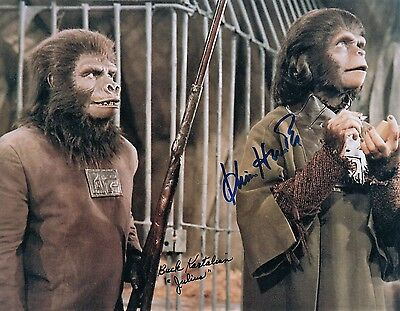 Buck Kartalian & Kim Hunter PLANET OF THE APES DOUBLE Signed AUTOGRAPH Photo POA