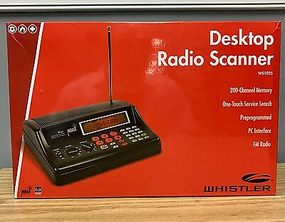 Whistler WS1025 Analog Desktop Police Scanner Brand New Low $