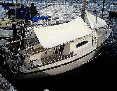 Sail Boat Boom Tent / Tarp, Grey 10' ft. x 20' ft. Heavy 18 Oz. Vinyl Waterproof