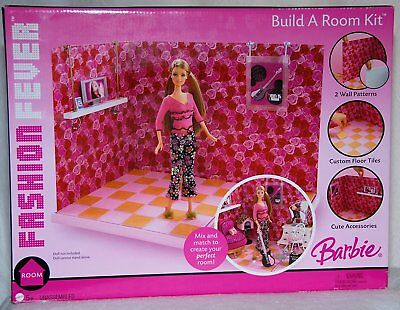 Barbie Fashion Fever Build a Room Kit (2 Room Looks - Endless Possibilities)