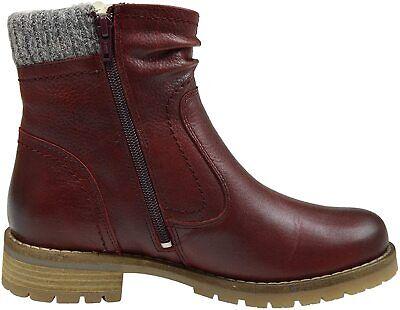Be Natural Jana Women's Ankle Boots sympatex stivale donna rosso pelle eu 37