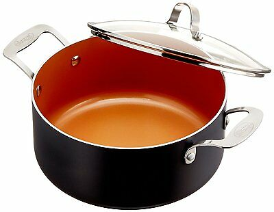 Gotham Steel Ceramic and Titanium Nonstick 5-Quart Pot with Lid - Brand New -