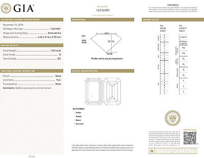 14k white gold ring 1.27 ct, 1.03 ct GIA cert. Emerald cut Diamond  D SI2 #603 2