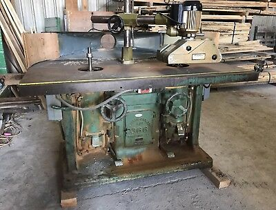 Ekstrom Carlson 366 Woodworking Double Spindle Wood Shaper With Power Feed