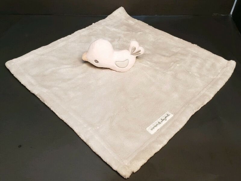 Blankets & Beyond Bird Lovey Gray and Pink Chick Duck Plush Security Blanket