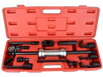 13pc Dent Puller Set 10lb Steel Slide Hammer Heavy Duty Car Garage Repair Tool