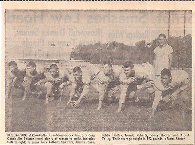 1955 Roanoke Times Va Radford High School Tony Talbert Ken Hite Albert Tolley