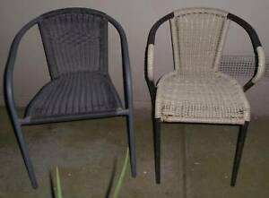 2x Outdoor dinning chair with armrest