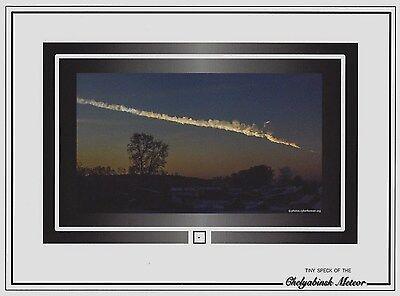 Very Tiny Speck Of The 2013 Chelyabinsk Meteor Air Burst Blast Meteorite  Russia