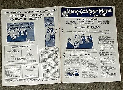 HOLIDAY IN MEXICO orig 1946 MGM pressbook JOSE ITURBI/ILONA MASSEY/JANE POWELL