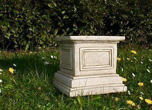BEAUTIFUL SQUARE COLUMN PLINTH Decor Stand Garden Patio Stone Bespoke Statue