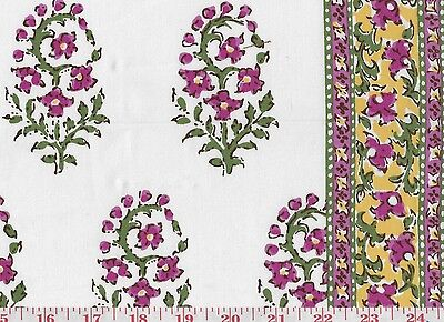 Ткань Cotton Floral w Borders Hill