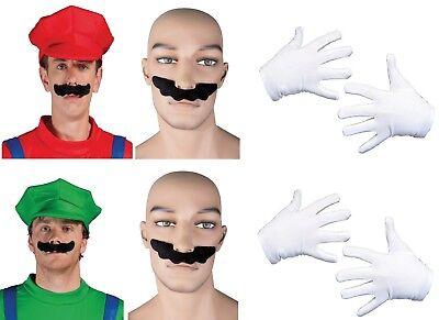Deguisement set super mario luigi lot jeu vidéo années 80 casquette plombier de