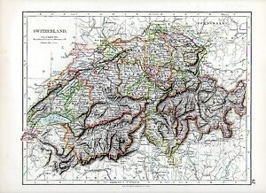 1897-VICTORIAN-MAP-SWITZERLAND-A-SUPERB-MAP-by-W-A-K-JOHNSTON