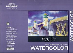 WATERCOLOR BLOCK 9X12 140 LB ~ FANTASTIC VALUE!