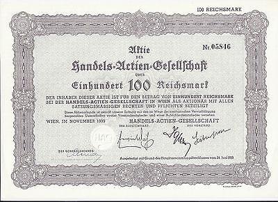 Handels-AG Wien 100 RM 1939