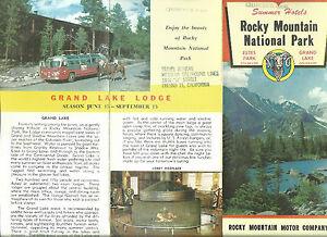 1960s rocky mountain nat 039 l park hotels brochure estes for Estes motor freight tracking