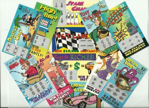 12 FaKe GaG JoKe PrAnK LoTTo LoTTeRy TiCkEtS Special Price $4.49  *FREE Shipping