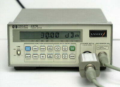Hp Keysight 437b Power Meter With 8481b Sensor  11730a Cable 10mhz-18ghz