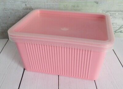 Vintage Pink Plastic Goody Box Hair Care Vanity Storage , Prop Goody Hair Care