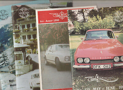 4 RARE VINTAGE SLICE MAGAZINES 1990  RELIANT SABRE & SCIMITAR OWNERS CLUB 113 +
