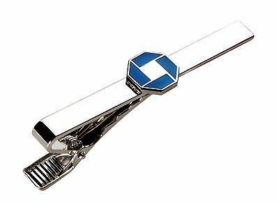Jpmorgan Chase Bank Silver Tone Tie Clip   Tie Bar