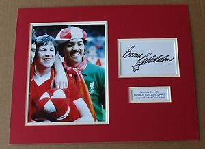 ★ BRUCE GROBBELAAR LIVERPOOL HAND SIGNED AUTOGRAPH PHOTO MOUNT + COA PROOF ★
