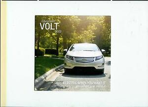 2013 Chevrolet VOLT Brochure RaRe AutoShow Item Must Have for Volt Lover LooK !!