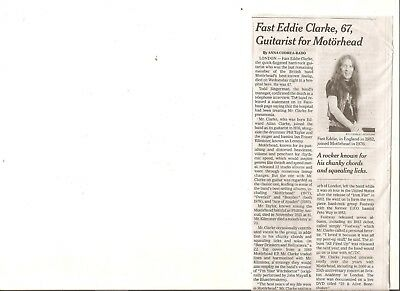 Fast Eddie Clarke 67 New York Times Obituary Motorhead Guitarist Overkill Bomber