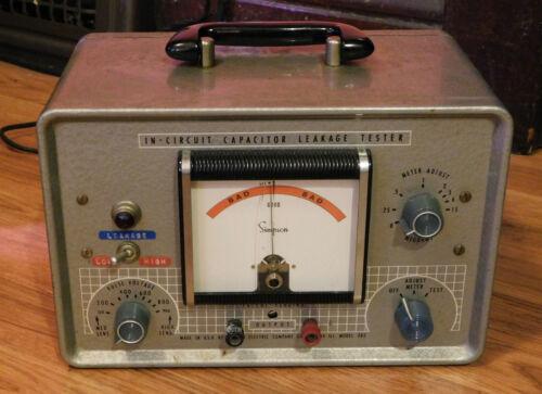 Vintage Simpson Model 383 In-Circuit Capacitor Leakage Tester