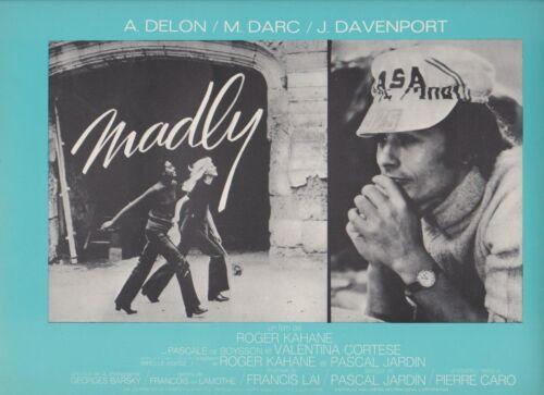 ALAIN DELON Mireille DARC French Pressbook MADLY
