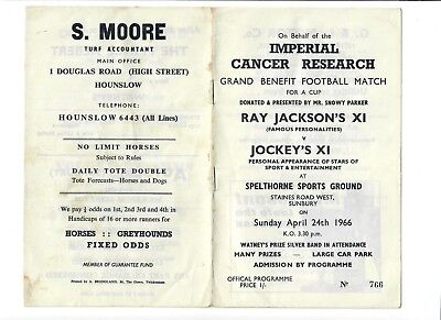 Ray Jackson's XI v Jockey's XI (Benefit Match) - 24/04/1966