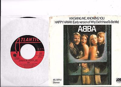 ABBA * 45 * Knowing Me, Knowing You * 1977 * VG+/ VG++ * USA ORIGINAL Stock w PS