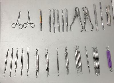 37 Pcs. Henry Schein Dental Instruments With 2 Cassettes-please See Description
