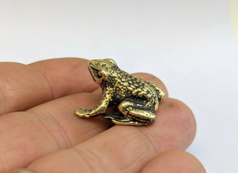 Brass Frog - Small Collectible Animal Figurine