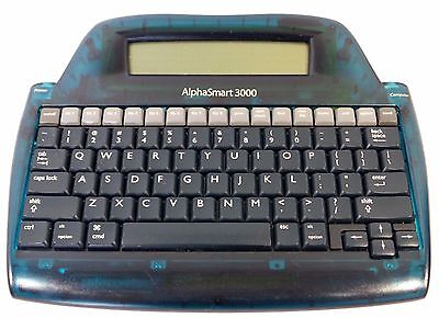 Alphasmart 3000 Portable Laptop Keyboard Word Processor No Usb Cablebatteries.
