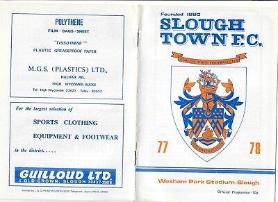 Slough Town v Carshalton Athletic - 05/11/1977