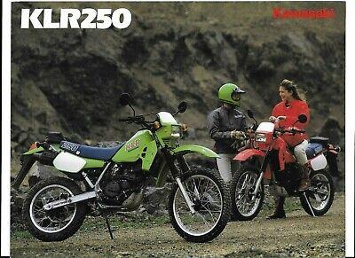 A SUPER 1985? KAWASAKI KLR250 BROCHURE (KL250-D2) #1557