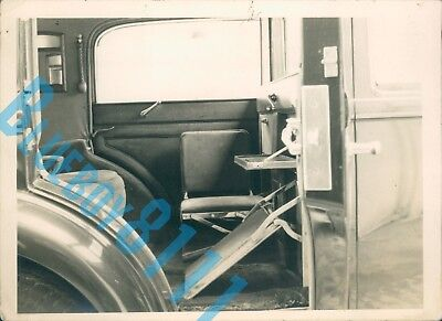 1930's Rolls Royce Limousine Interior 1960s Dealer Stock Photo 6.5 x 5 inches