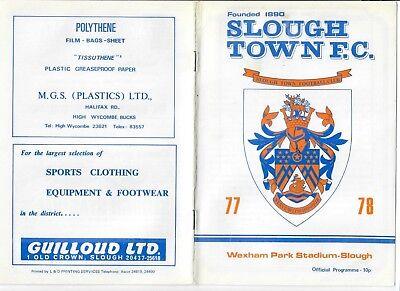 Slough Town v Bishop's Stortford - 24/09/1977