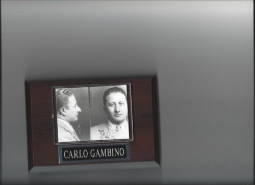 CARLO GAMBINO PLAQUE MAFIA ORGANIZED CRIME MOBSTER MOB