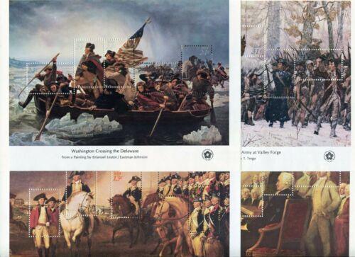 US 1686-89 MNH 1976 AMERICAN BICENTENNIAL Souvenir Sheet Set of 4 Very Fine