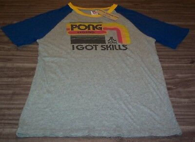 VINTAGE STYLE ATARI PONG LEGEND I Got Skills Video Game T-Shirt SMALL NEW w/ TAG
