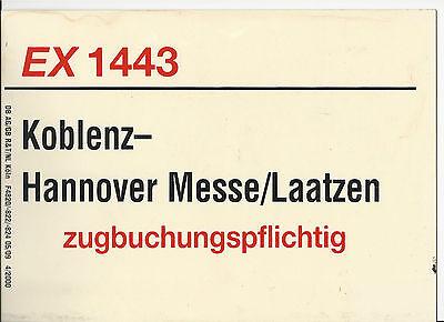 Zuglaufschild EX 1443